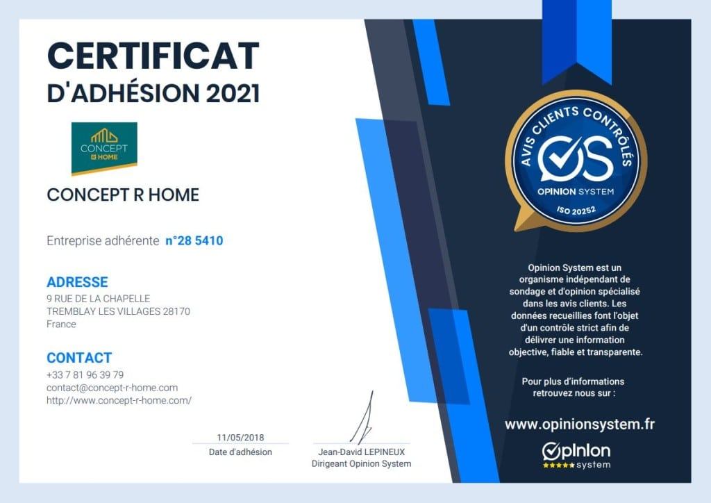 Certificat adhesion 2021
